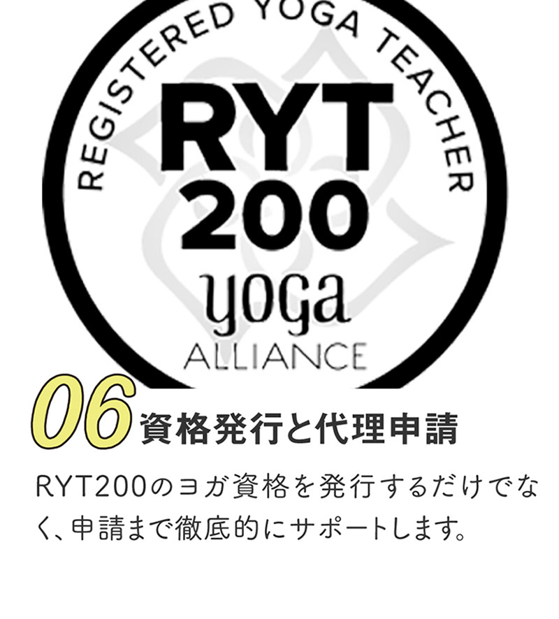 RYT200の資格発行と申請代行